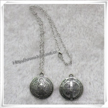 Religious Metal Chain Necklace (IO-an083)