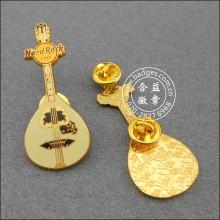 Laço forma lapela pin, guitarra crachá (gzhy-LP-044)