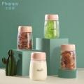 Frascos PP 200ml para armazenamento de leite materno - três em uma caixa