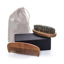 Escova de pente de bambu de madeira private label amazon