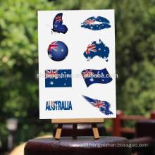 2016 body art metallic temporary tattoo sticker The national flag