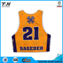 Personalisierte stilvolle Custom Sublimation Lacrosse Jersey