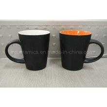 Tasse en céramique de deux tons, tasse en céramique finie mate, tasse de café