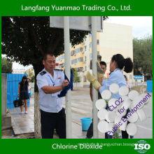 Tablette de dioxyde de chlore désinfectant et sans coût réduit pour l'environnement public
