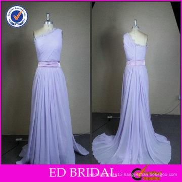 Lilac Long Chiffon Real Sample Evening Dress