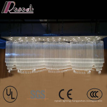 Hotel Lobby Large Wave Shapes Luxury K9 Crystal Chandelier