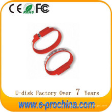 Hot Sale Wristband Style Custom USB Flash Drive for Promotion for Free Sample