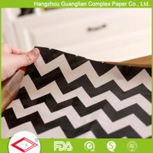 Papier sulfurisé imprimé par coutume de papier de parchemin pour l'enveloppe de burger / Sandiwch