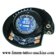 The newest digital UFO tattoo power supply with two clip cords
