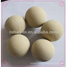 Boule en céramique d'alumine de meulage d'alumine de 80% de contenu moyen
