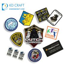 Custom embroidered dog elephant baseball patches blank bamboo canada flag bee basketball bjj bullion badge patch for sublimation
