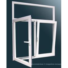Fenêtre basculante et pivotante en aluminium de style Morden 2015 avec double vitrage