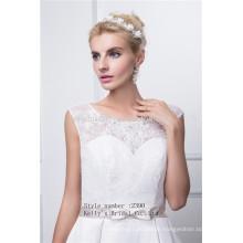 Sleeveles wulstige Stickerei Mieder nehmen Taft Hochzeitskleid an