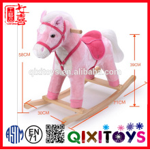 2016 New Riding Toy Plush Rocking Horse with Sound and Movement Features