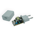 Adaptador de cargador USB mini de color blanco 5v2a