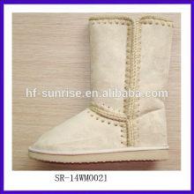 SR-14WM0021 2014 top quality winter ladies warm snow boots fashion half snow boot Women's Snow Boots