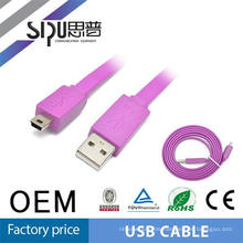 SIPU Wholesale price flexible usb cable double sided mini usb cable