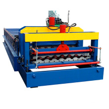 950 half-round metal corrugated roofing sheet wall panel making production color steel forming /glazed tile roll forming line