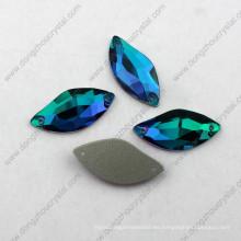 La sombra azul decorativa del zircon S del precio de fábrica cose en el diamante artificial para el vestido de boda