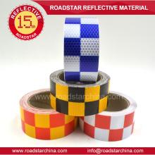 Hohe Sichtbarkeit Schachbrett gedruckt Reflexfolie für Fahrzeuge