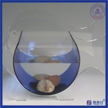 Réservoir de poisson acrylique à plexiglas rond irrégulier