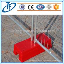 Clôture temporaire amovible, couleur optionnelle, fabricant professionnel