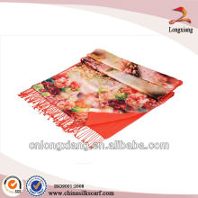 2014 ladies 2-ply digital printed silk scarves wholesale pashmina shawl