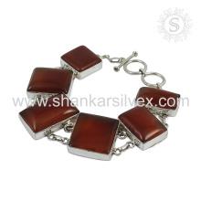 Splendid Carnelian Edelstein Armband 925 Sterling Silber Schmuck Handgefertigte Indian Online Schmuck