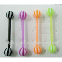 Fashion silicone Straight Barbell Tongue Ring