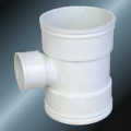 Din Drainage Upvc Reductor Tee Color gris