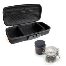 Outdoor Hard Smell Proof Pre Rolled Case,Travel Smart Stash Grinder Bag Carbon Lined