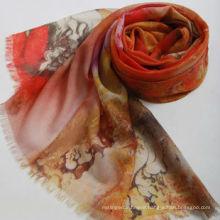 Fashionable Digital printing 100% wool scarf