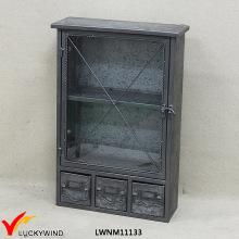 Armário de armazenamento industrial do metal do vintage