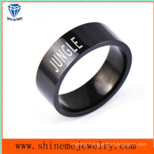 Shineme Jewelry Fashion Black Plated Stainless Steel Ring (SSR2779)