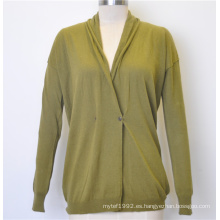 Nueva rebeca de las mujeres del Knit del resorte del diseño con el botón
