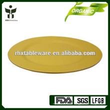 Placa de servicio de alimentos de bambú reciclado
