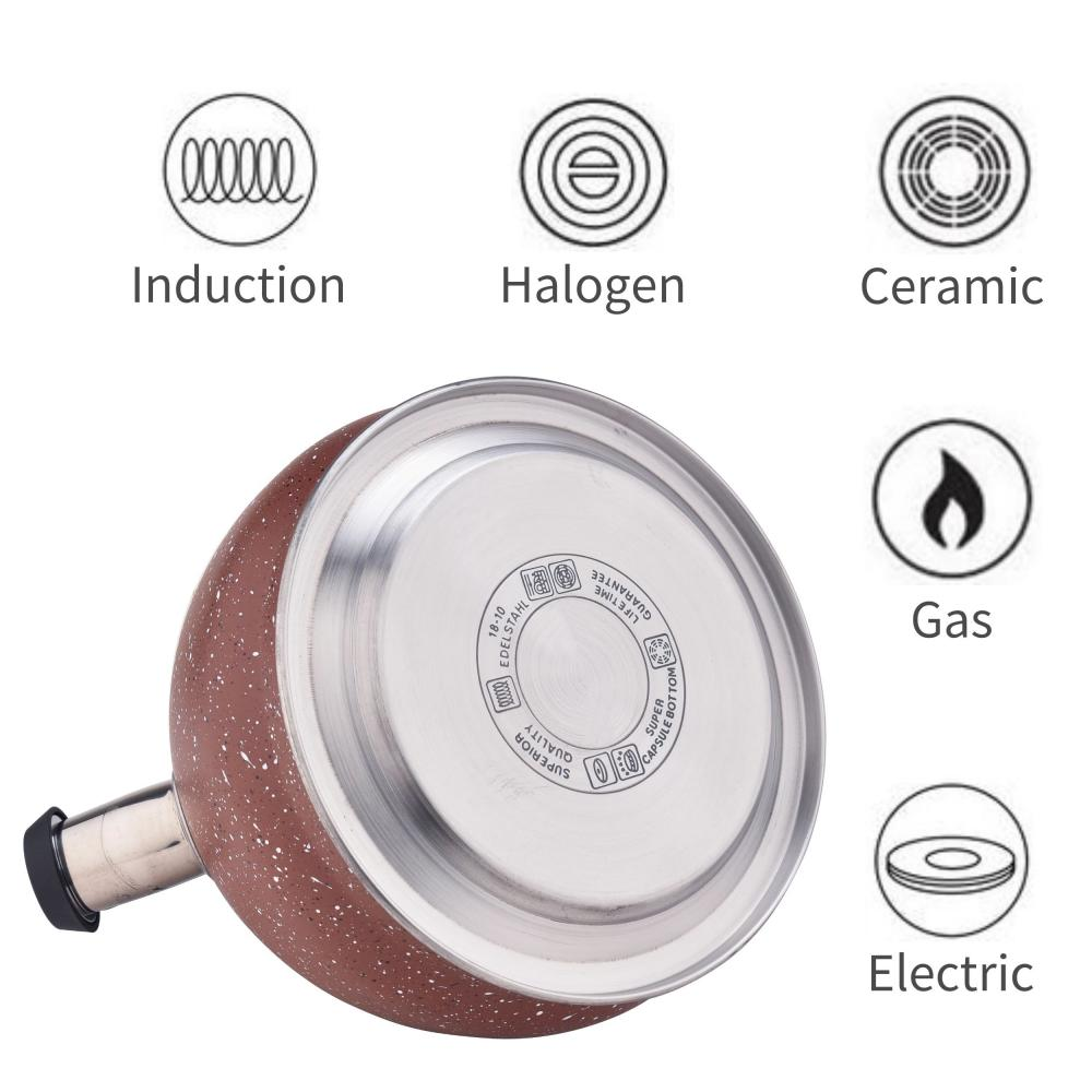 Stainless Steel Whistling Stovetop Water Kettle
