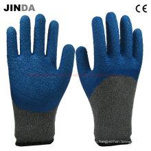 Guantes de mano de seguridad de látex azul (lh003)