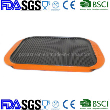50*27cm Vegetable Oil Nonstick Cast Iron Grill Pancake Crepe Pan BSCI LFGB FDA Approved, with Handle