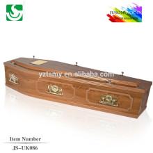 caixão madeira sólida do MDF prático JS-UK086