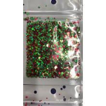 Círculo de ponto de cor misto redondo formas de glitter, cores diferentes ponto misturado glitter