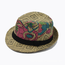 Painting Fedora Straw Hat (GK15-S1062)