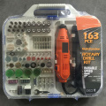 163pcs 135W Portable Hobby Mini Moinho Acessório Set com Flex Shaft Handheld Electric Rotary Drill Kit