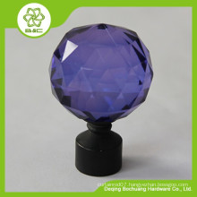cheap and good quality curtain rod finial ,home decor curtain crystal ball finial for curtain rods