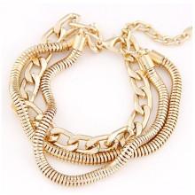 Accesorios baratos de la pulsera de las cadenas del oro del precio barato de la manera para las mujeres