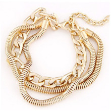 Mode prix bon marché chaînes en or accessoires bracelet pour femmes