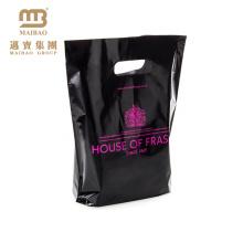 Guangzhou factory pouch handle cosmetic plastic bag
