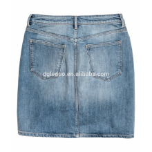 Zip fly with button short mini denim high waist and quality skirt