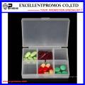 Hochwertige 6units Logo Kundenspezifische Pillbox (EP-030)