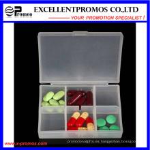 Alta calidad 6units logotipo personalizado Pillbox (EP-030)